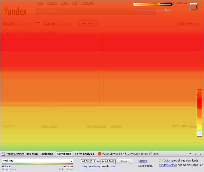 Yandex Scroll Map