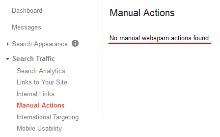 Manual Actions From Google Search Console