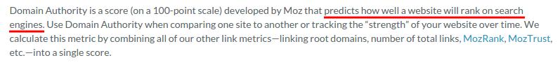 Domain Authority Description