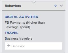 Facebook Audience Insights: Behaviors
