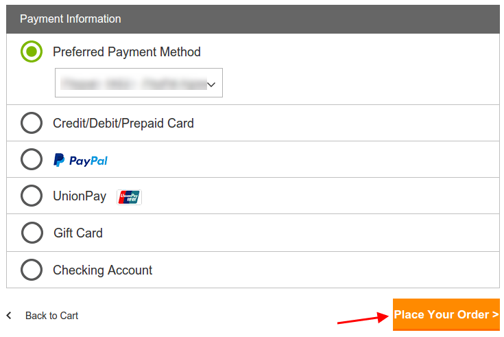GoDaddy Payment Information
