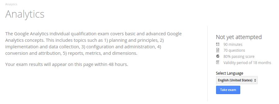 Google Analytics Exam