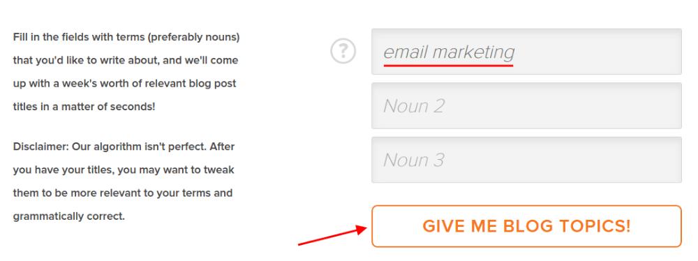 HubSpot idea generator
