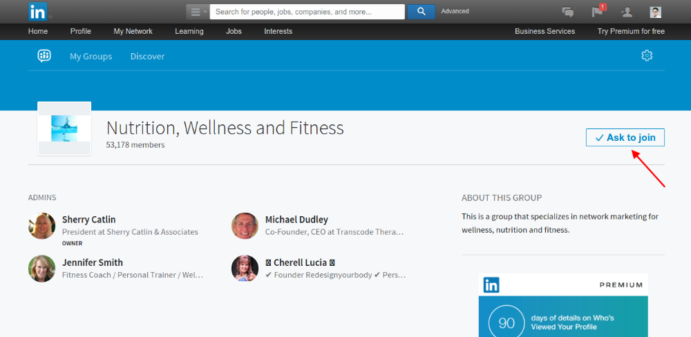 Join the group on Linkedin