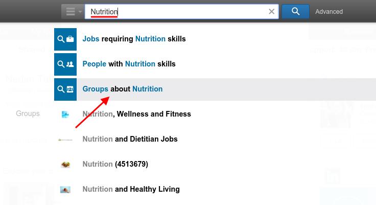 LinkedIn: Nutrition Search