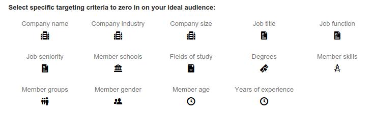 Linkedin Targeting Criteria