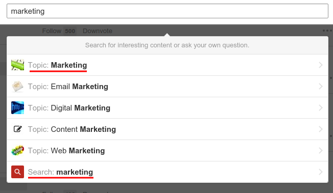 Search for Marketing at Quora