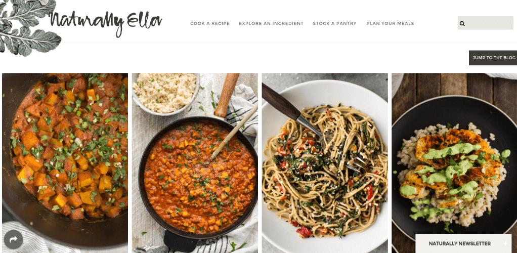 Naturally Ella Home Page