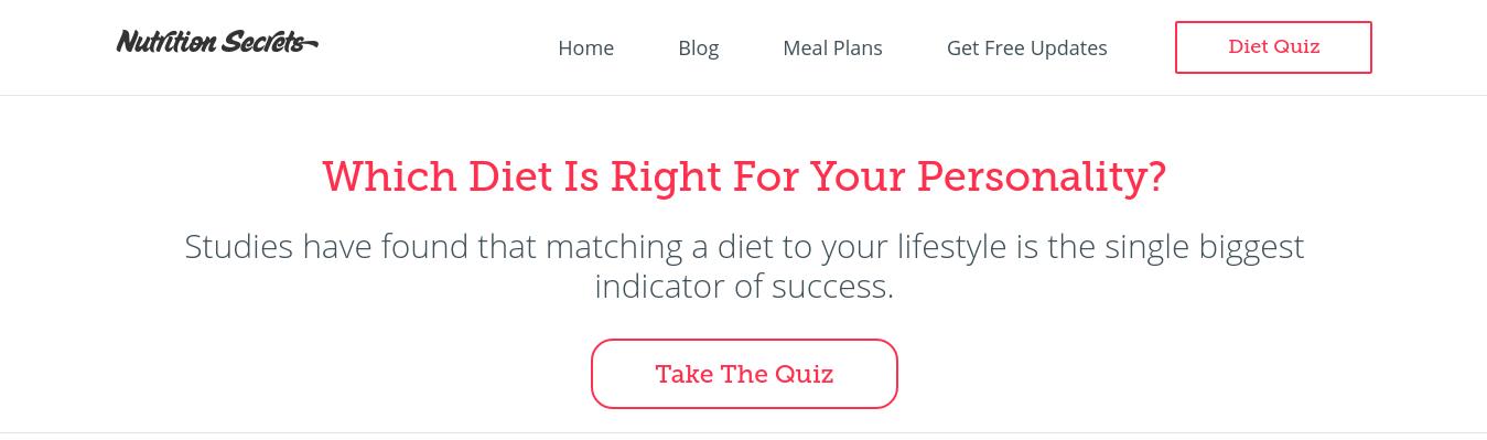 Nutrition Secrets Quiz