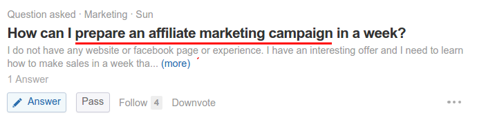 Prepare an affiliate marketing campaign