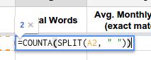 Total Words Formula