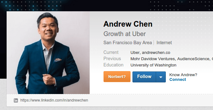 Andrew Chen, Growth at Uber