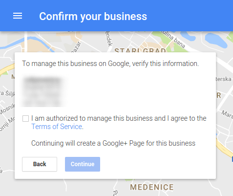 Confirm your business