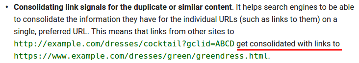 Consolidating link signals