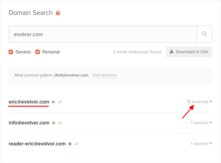 Email Hunter Evolvor Emails