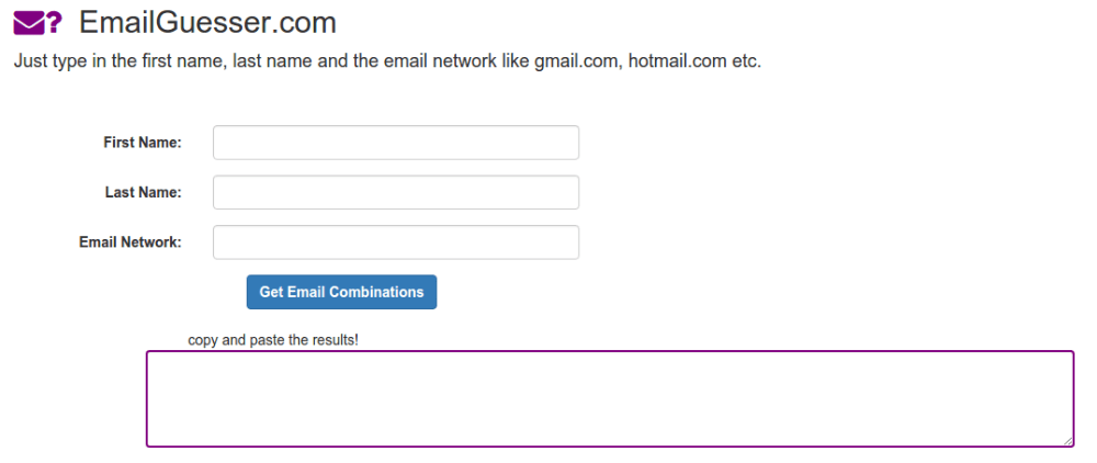 Email Guesser