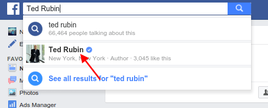 Facebook Ted Rubin Search