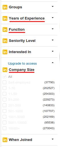 LinkedIn Pro Filter