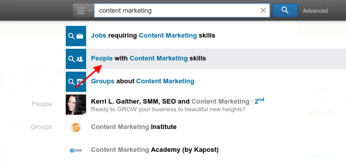 People with content marketing skills