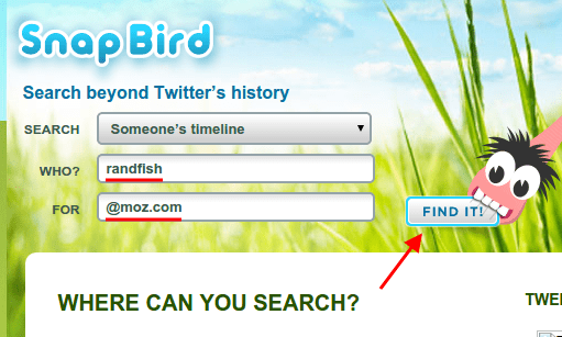 Snap Bird: Search Someone's Timeline