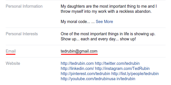 Ted Rubin Details