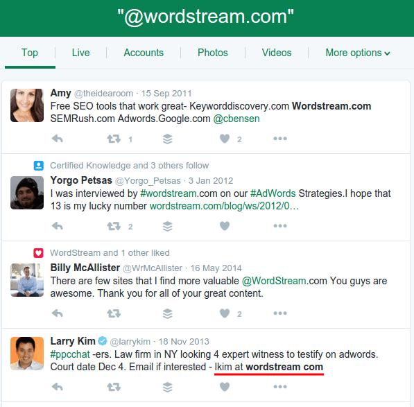 Twitter Advanced Search Wordstream