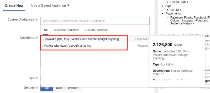 Choose an audience