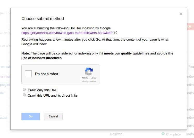 Choose Submit Method