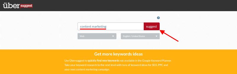 Content Marketing - Ubersuggest