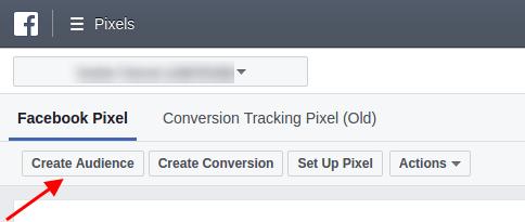 Facebook Pixel: Create an audience