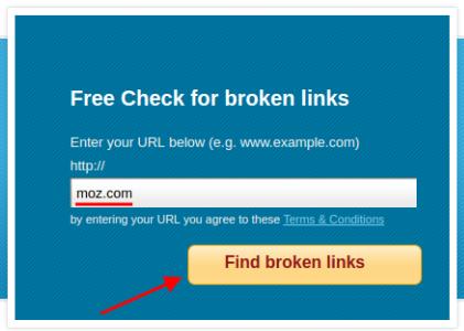 Free check for broken links