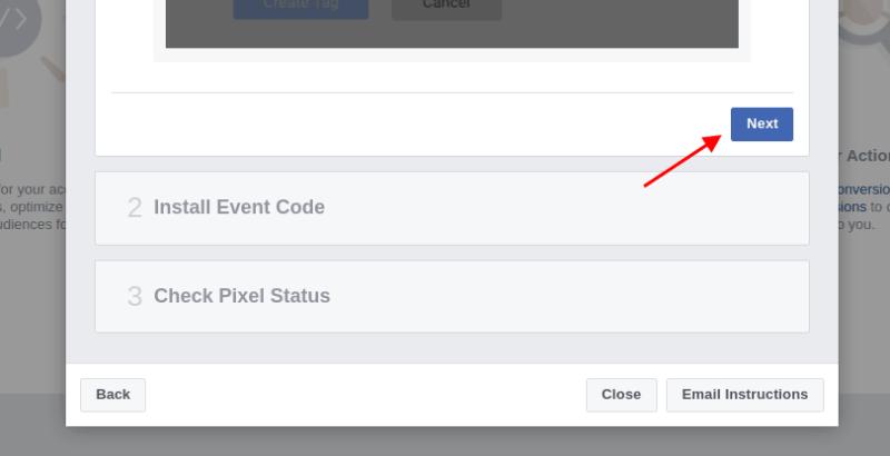 Install event code