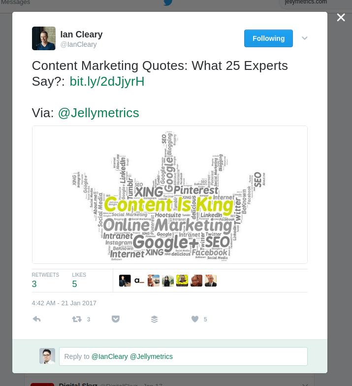 Cleary's Tweet