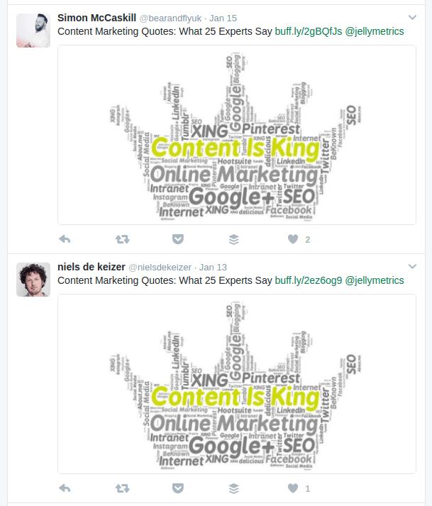 Content marketing quotes tweets