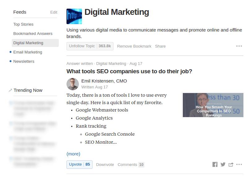 Digital Marketing Feed