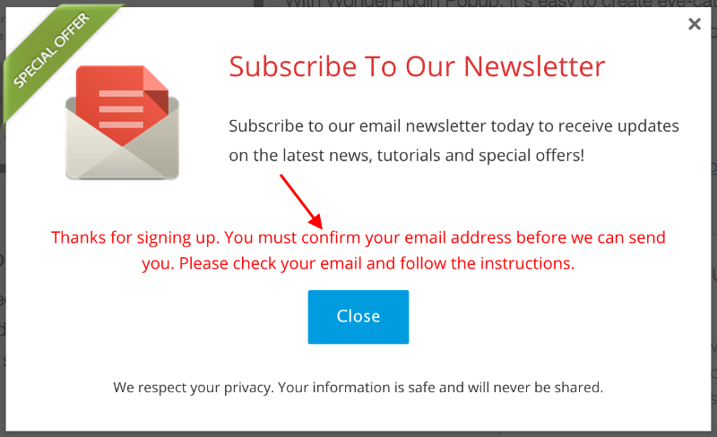Newsletter confirm
