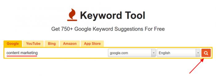 KeywordTool: Content marketing