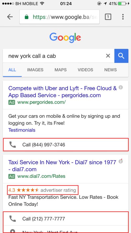 New York: Call a cab