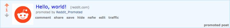 Reddit link ads