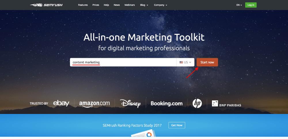 SEMrush: Content marketing