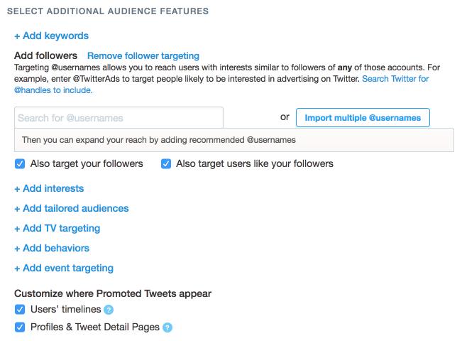 Twitter Audience Targeting